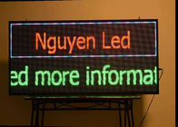 Multicolor Scrolling LED Signs 10mm Pixels Programmable Scrolling Display Board